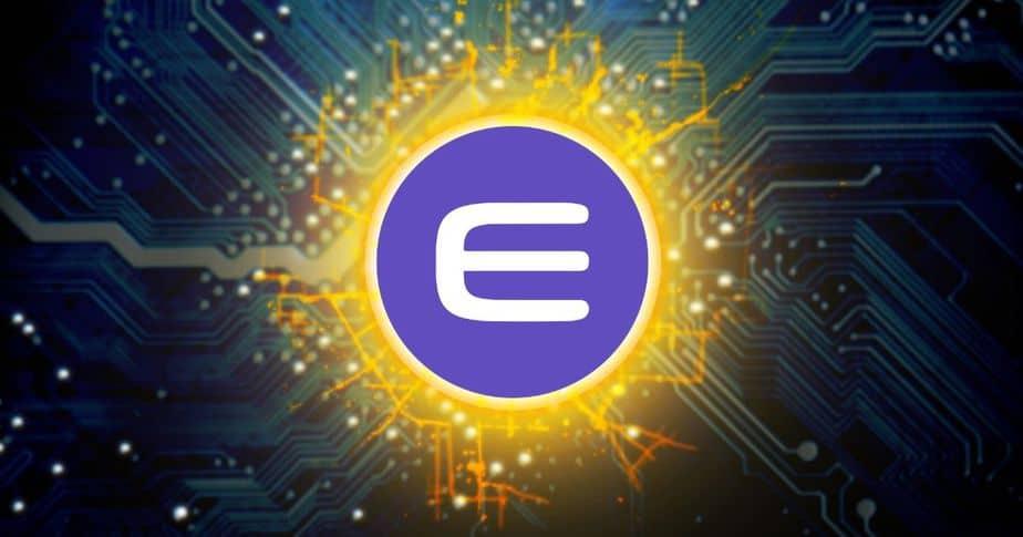 סמל של מטבע הקריפטו ENJ