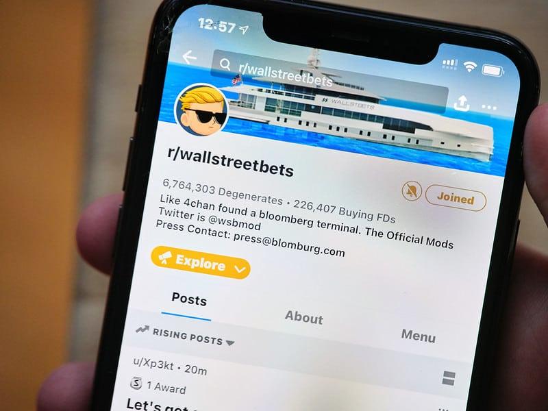 קבוצת המשקיעים WallStreetBets בפלטפורמת רדיט